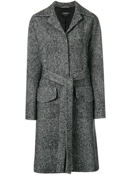 Однобортное шерстяное пальто с воротником с поясом Rochas