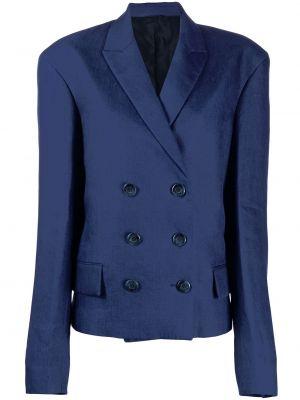 Синий пиджак двубортный на пуговицах Jil Sander Pre-owned