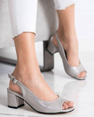 Sandały srebrne eleganckie Goodin