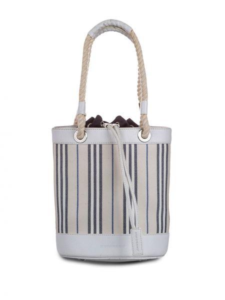 Серая парусиновая сумка-тоут на шнурках с подкладкой Burberry Pre-owned