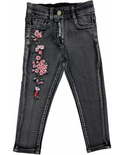 Czarne mom jeans Monnalisa