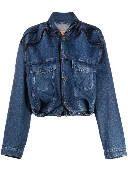 Свободная синяя джинсовая куртка свободного кроя Y/project