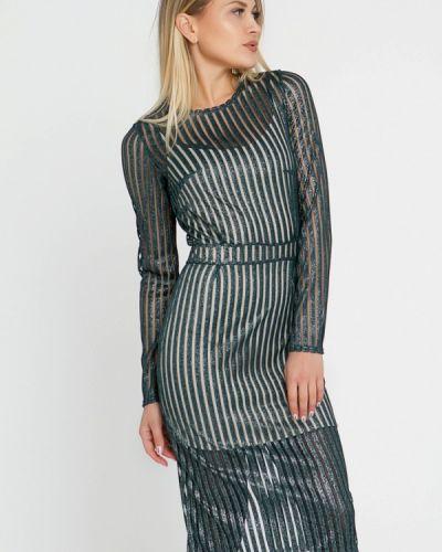 Вечернее платье осеннее зеленый Lilove