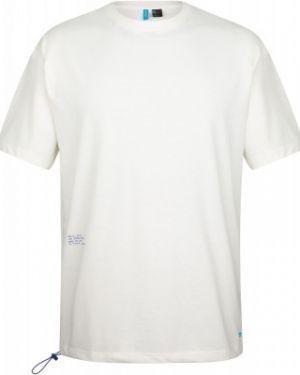 Хлопковая белая спортивная футболка оверсайз O`neill