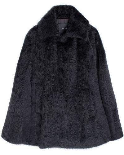 Шерстяное черное пальто с запахом Jay Ahr