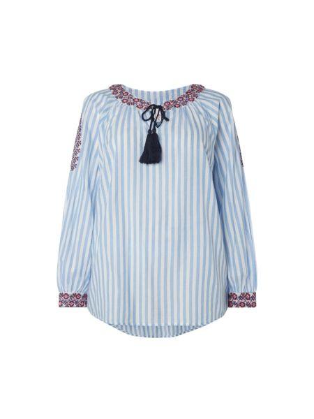 Tunika bawełniana w paski z haftem Sheego