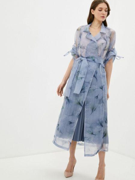 Платье - голубое Adzhedo