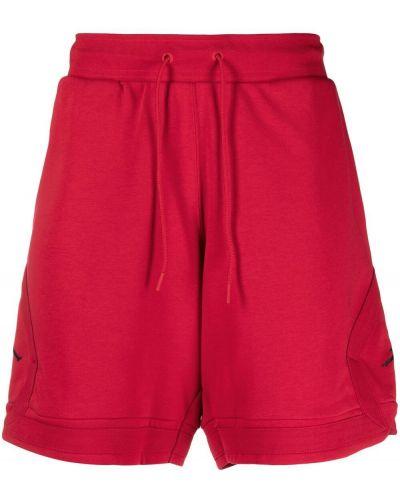 Красные хлопковые спортивные шорты на шнурках Nike
