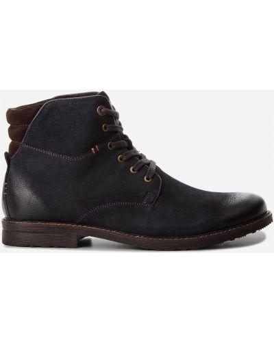 Ботинки на каблуке - синие Lasocki