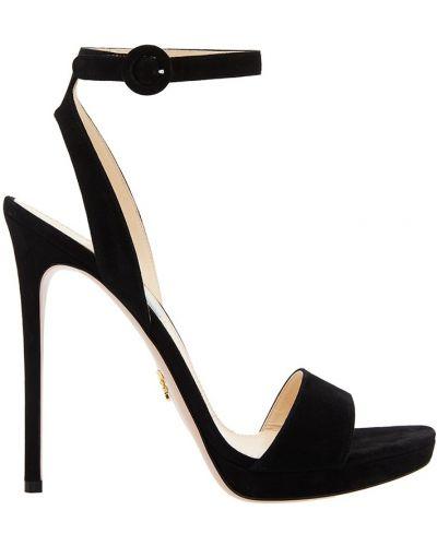 Босоножки на каблуке на шпильке на высоком каблуке Prada