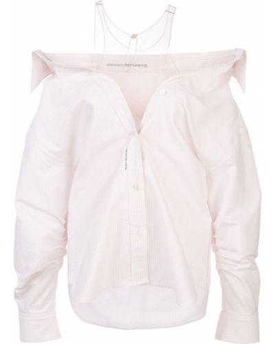 Рубашка с длинным рукавом в полоску прозрачная Alexander Wang