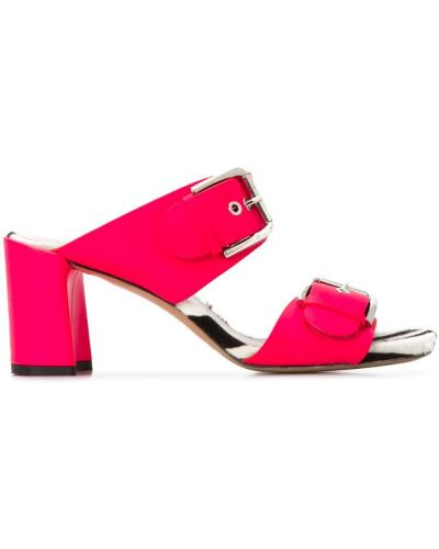 Босоножки на каблуке открытые розовый Premiata