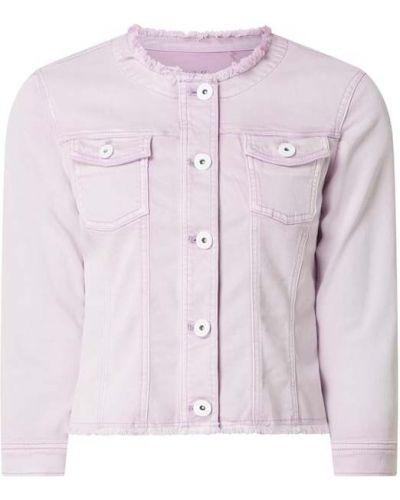 Fioletowa kurtka jeansowa z frędzlami bawełniana Taifun