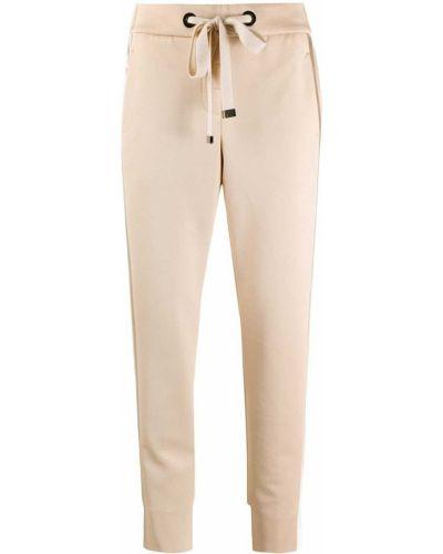 Шерстяные спортивные брюки в полоску с поясом Peserico