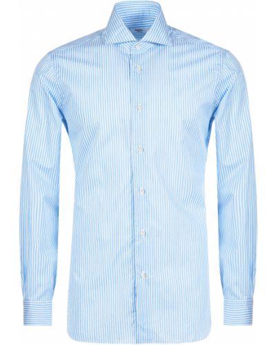 Хлопковая рубашка - голубая Barba Napoli