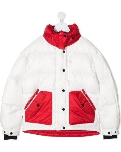 Biała długa kurtka z długimi rękawami zapinane na guziki Perfect Moment Kids