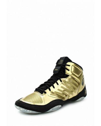 Высокие кроссовки золотого цвета Asics