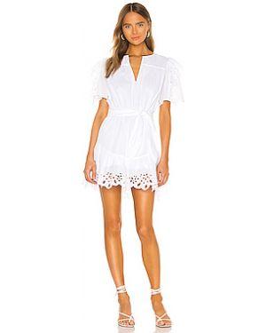 Белое платье с завязками с подкладкой с декоративной отделкой Joie