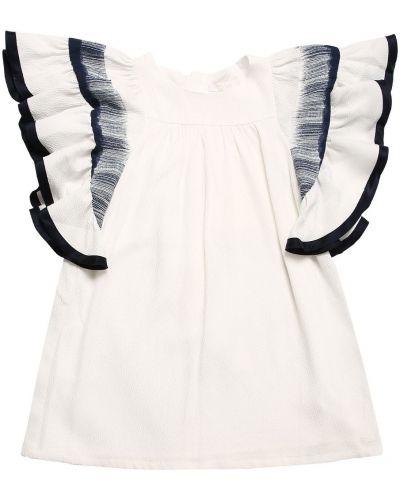 Biała satynowa sukienka Chloe