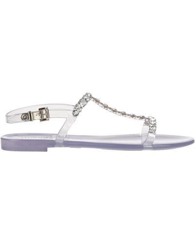 Силиконовые сандалии - белые Menghi