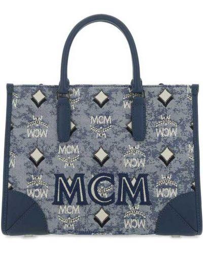 Niebieska torebka Mcm