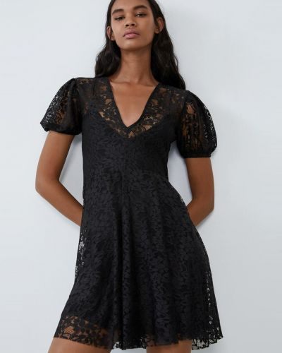 Платье мини короткое - черное Zara