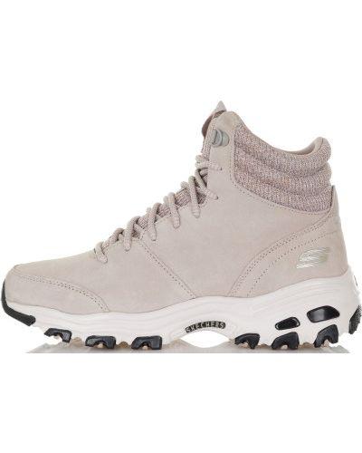 Кроссовки на шнуровке теплые Skechers