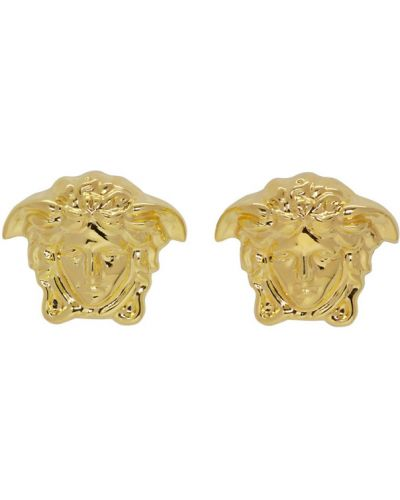 Kolczyki sztyfty, złoto Versace