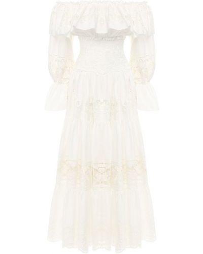 Платье миди с вышивкой расклешенное Dolce & Gabbana