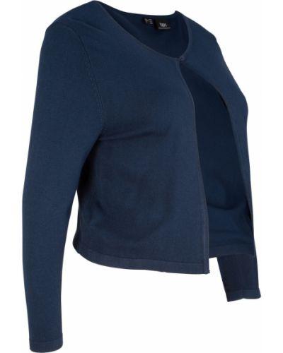 Темно-синее вязаное болеро с рукавом 3/4 Bonprix