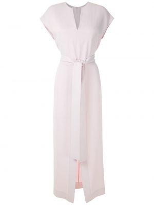 Фиолетовое прямое платье миди на молнии с разрезом Gloria Coelho