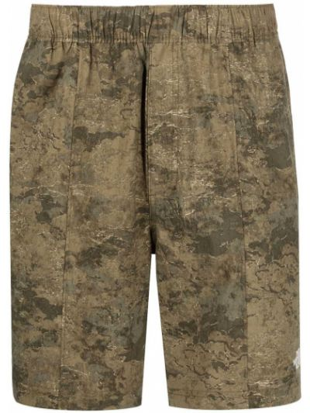 Зеленые шорты милитари с карманами The North Face