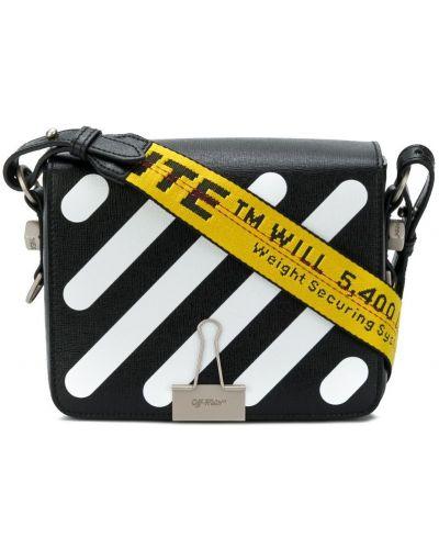 Кожаный сумка сэтчел на плечо Off-white