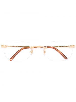 Złote oprawka do okularów - żółte Cartier Eyewear