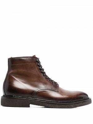 Коричневые ботинки на шнуровке Officine Creative