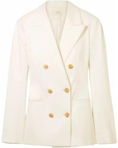 Белый пиджак двубортный с карманами The Row