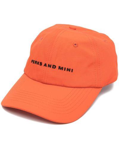 Оранжевая бейсбольная бейсболка с вышивкой Perks And Mini
