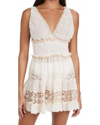 Sukienka mini koronkowa sznurowana Chio
