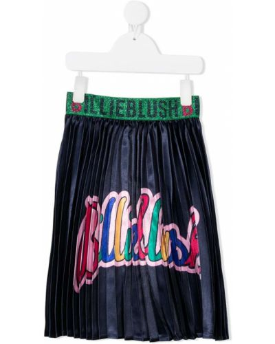 Niebieska spódnica z printem Billieblush