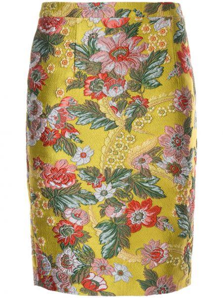 Желтая юбка узкого кроя Andrew Gn