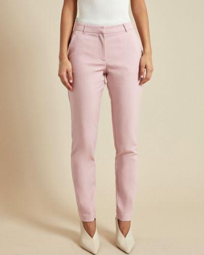 Хлопковые розовые брюки Zarina