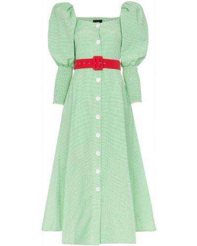 Платье миди зеленый для танцев N Duo