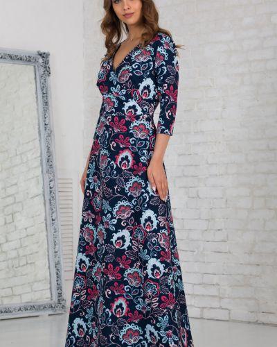 Трикотажное платье макси азалия