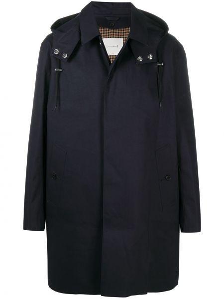 Пальто с капюшоном - синее Mackintosh