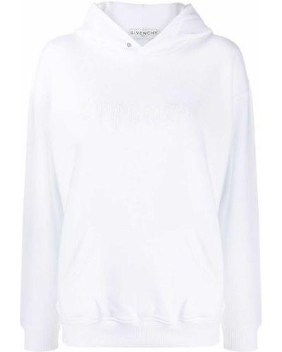 Bawełna bawełna biały bluza z kapturem z kapturem Givenchy