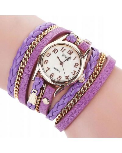Klasyczny czarny złoty zegarek Geneva