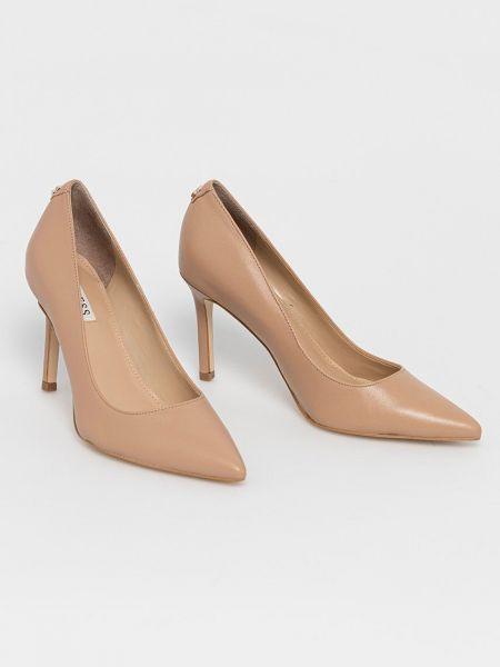 Кожаные туфли на каблуке Guess