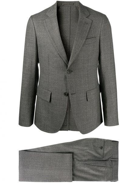 Деловой костюм деловой с лацканами на пуговицах с карманами Salvatore Ferragamo