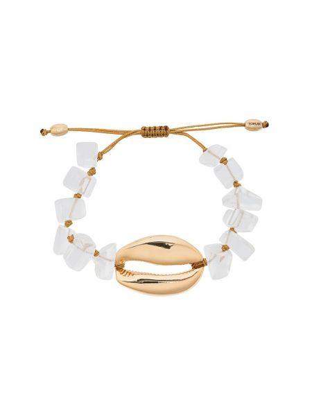 Złota bransoletka ze złota pozłacana oversize Tohum