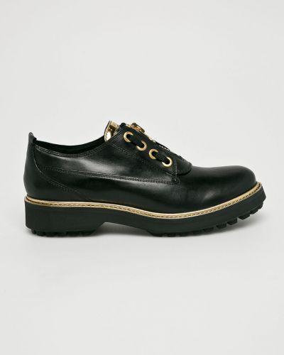 Туфли на танкетке кожаные на каблуке Geox